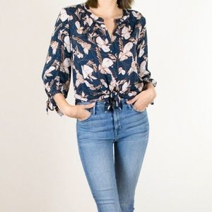 NWT Floral Peasant Blouse